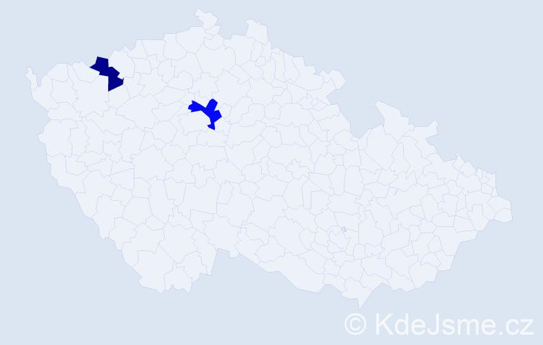 Příjmení: 'Fabiny', počet výskytů 7 v celé ČR