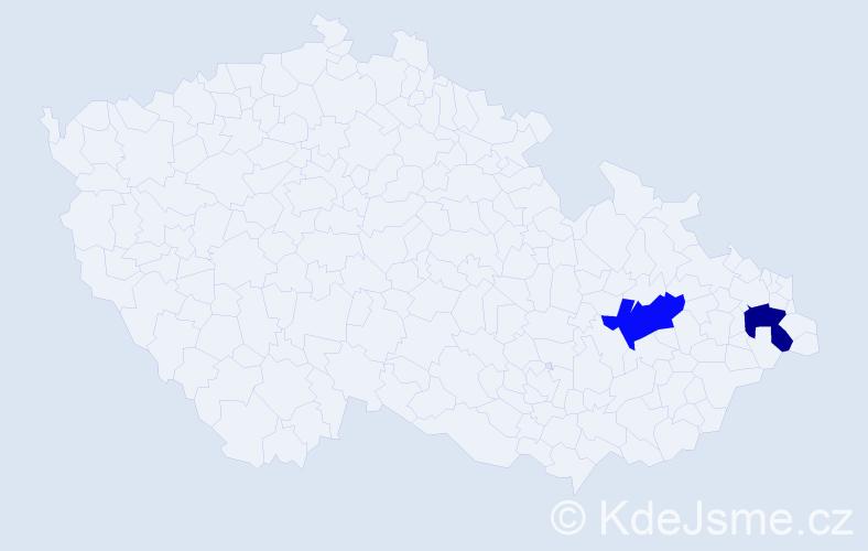 Příjmení: 'Jeckel', počet výskytů 2 v celé ČR