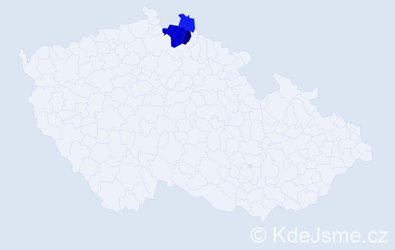 Příjmení: 'Barůšek', počet výskytů 9 v celé ČR