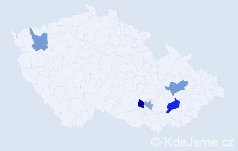 Příjmení: 'Lančík', počet výskytů 15 v celé ČR