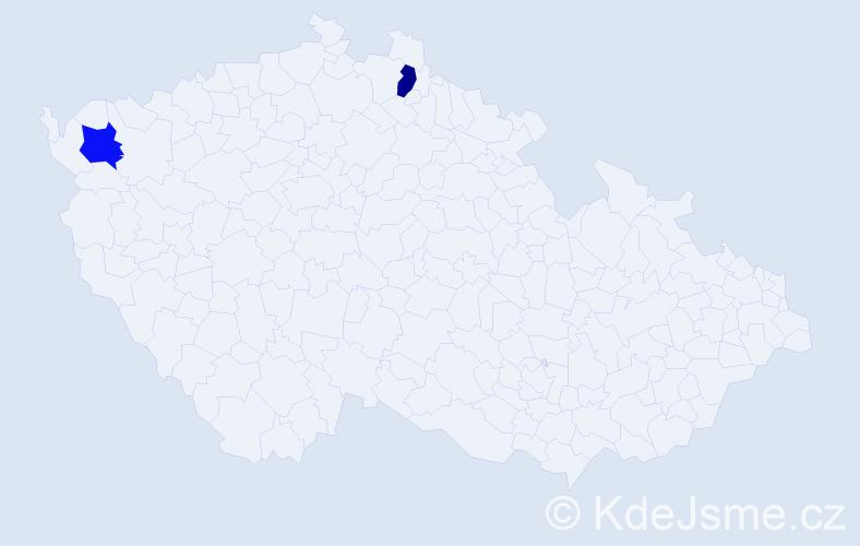 Příjmení: 'Brečko', počet výskytů 2 v celé ČR