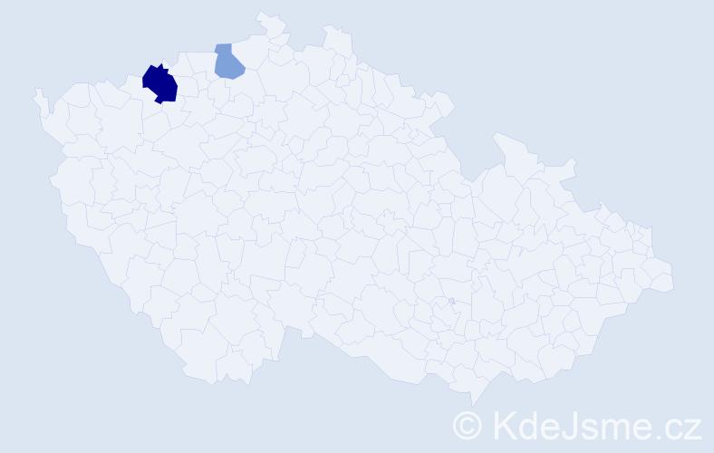 Příjmení: 'Eberhardt', počet výskytů 4 v celé ČR