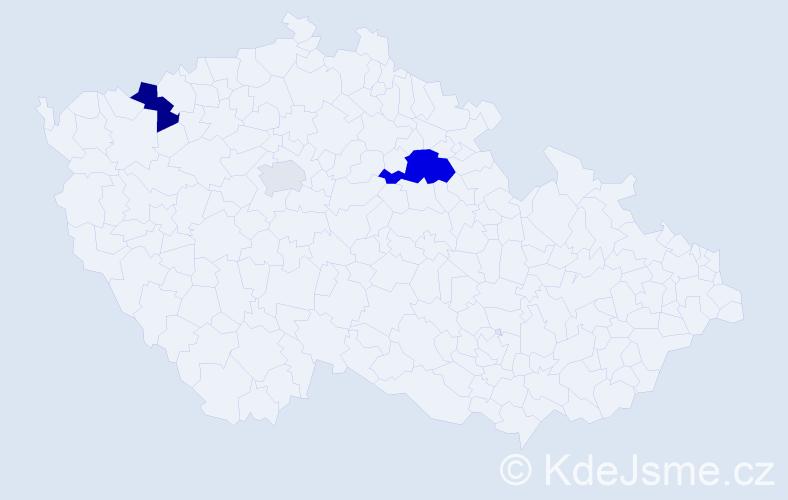 Příjmení: 'Jacurová', počet výskytů 7 v celé ČR