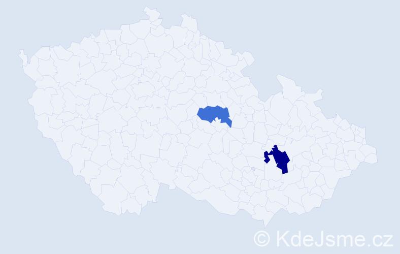 Příjmení: 'Balczyraková', počet výskytů 3 v celé ČR
