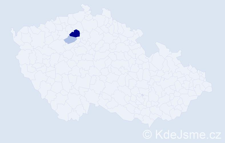 Příjmení: 'Landsdorf', počet výskytů 7 v celé ČR