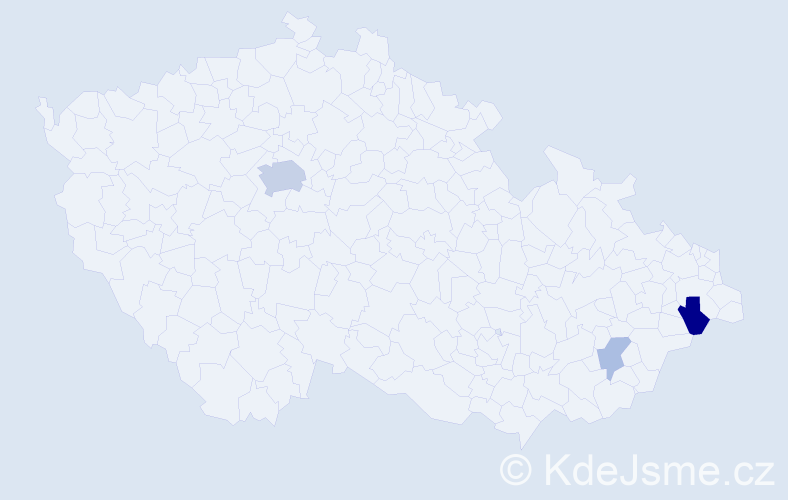 Příjmení: 'Gavrilova', počet výskytů 8 v celé ČR