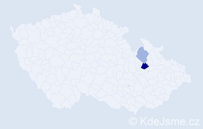 Příjmení: 'Didič', počet výskytů 3 v celé ČR
