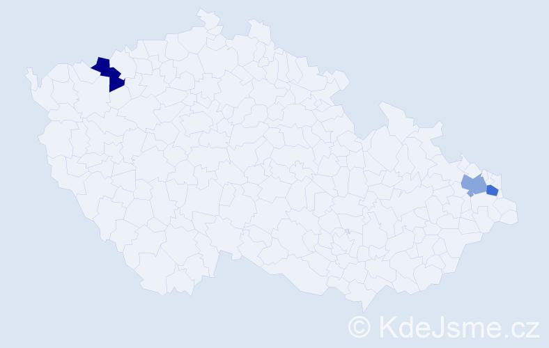 Příjmení: 'Juchna', počet výskytů 3 v celé ČR