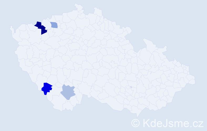 Příjmení: 'Barantálová', počet výskytů 12 v celé ČR