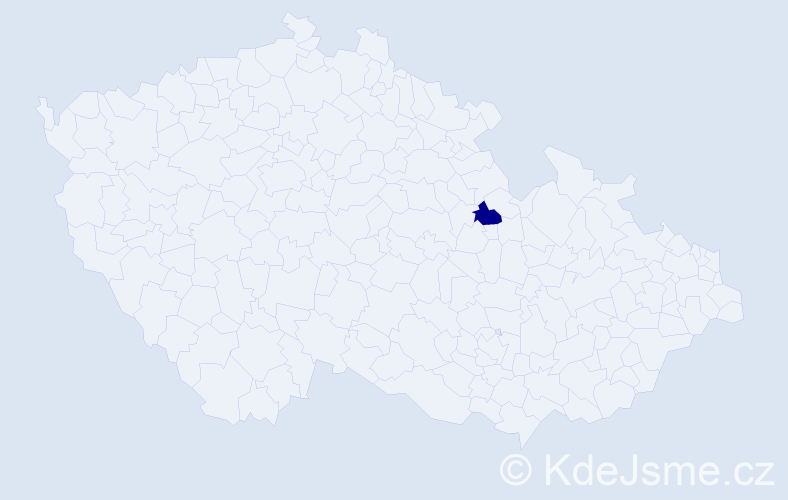 Příjmení: 'Idiskut', počet výskytů 1 v celé ČR