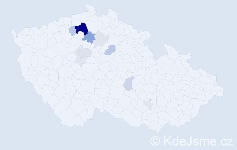 Příjmení: 'Krumbholc', počet výskytů 38 v celé ČR
