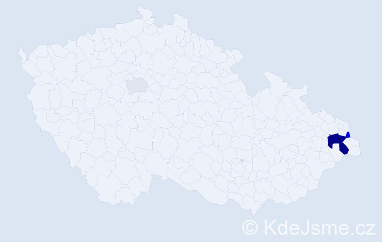 Příjmení: 'Berski', počet výskytů 6 v celé ČR