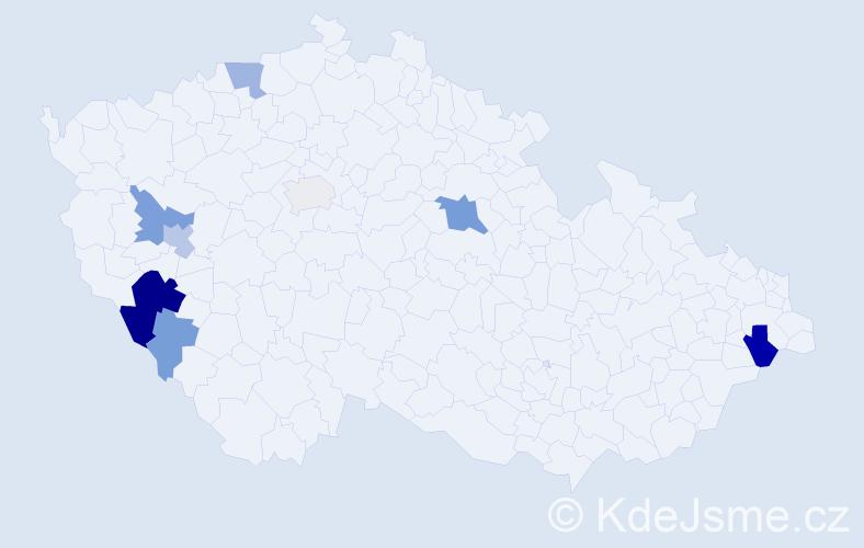 Příjmení: 'Lerach', počet výskytů 22 v celé ČR