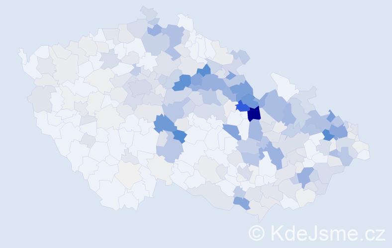 Příjmení: 'Langrová', počet výskytů 1245 v celé ČR
