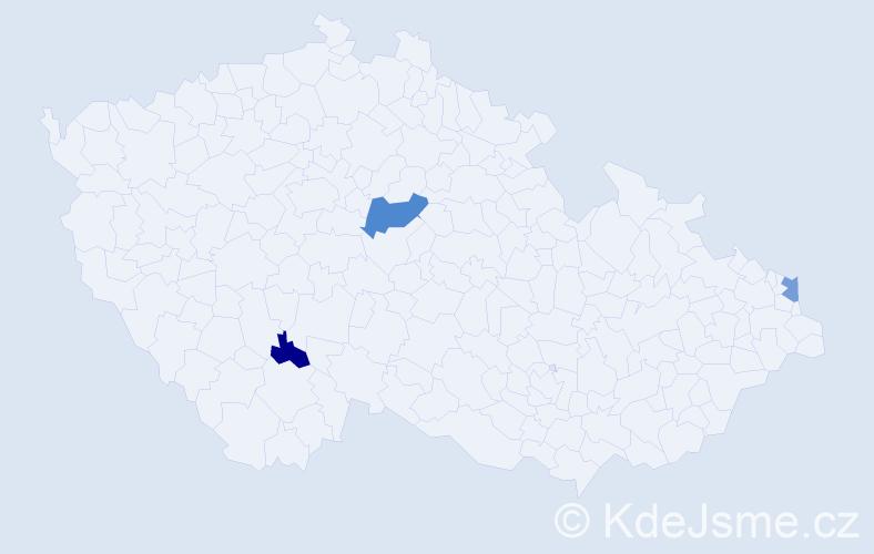 Příjmení: 'Jobbágy', počet výskytů 10 v celé ČR