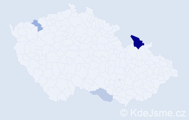 Příjmení: 'Karadyová', počet výskytů 7 v celé ČR