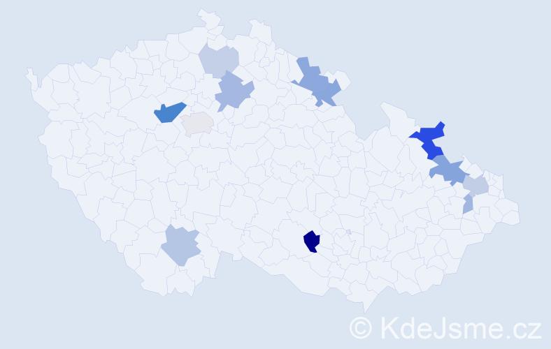 Příjmení: 'Lapuníková', počet výskytů 31 v celé ČR