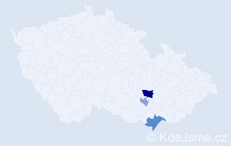 Příjmení: 'Lernbecher', počet výskytů 6 v celé ČR
