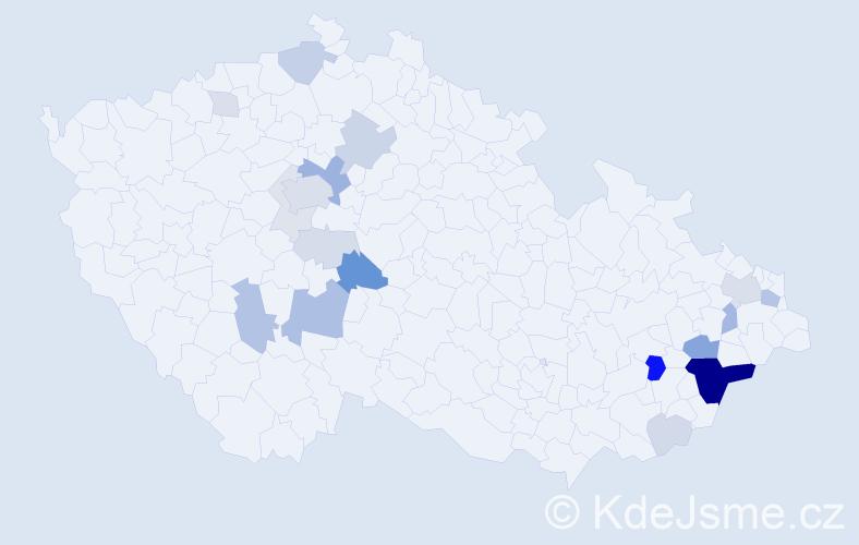 Příjmení: 'Hlinská', počet výskytů 66 v celé ČR