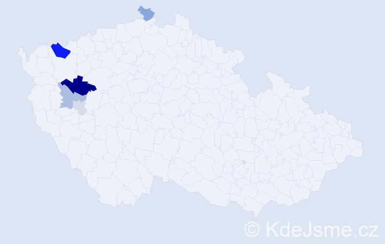 Příjmení: 'Jessl', počet výskytů 9 v celé ČR