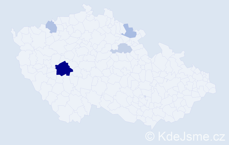 Příjmení: 'Grinč', počet výskytů 10 v celé ČR