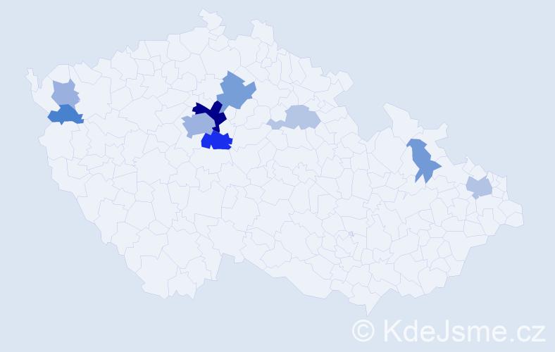 Příjmení: 'Busch', počet výskytů 26 v celé ČR