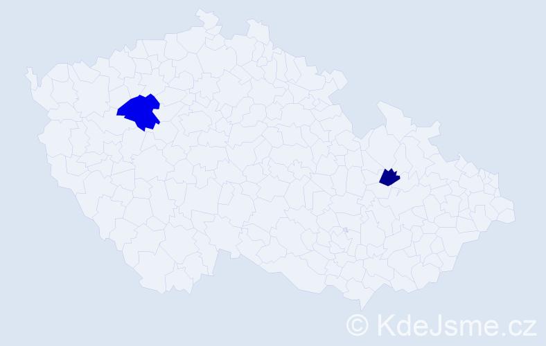 Příjmení: 'Kinierová', počet výskytů 3 v celé ČR