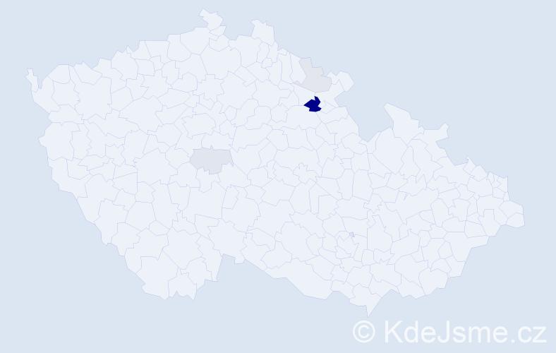Příjmení: 'Emlarová', počet výskytů 13 v celé ČR