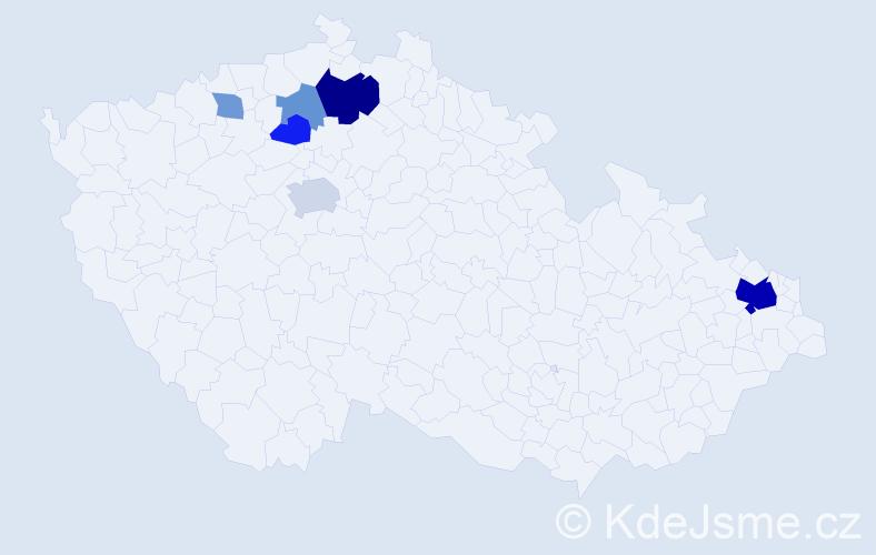 Příjmení: 'Goldbricht', počet výskytů 16 v celé ČR