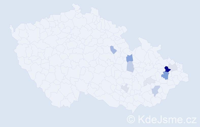 Příjmení: 'Bainar', počet výskytů 30 v celé ČR
