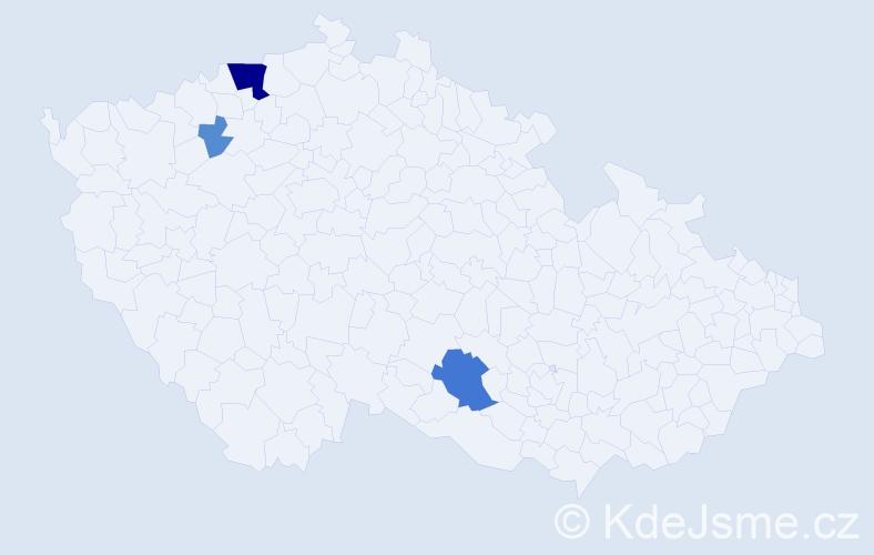 Příjmení: 'Júnová', počet výskytů 11 v celé ČR