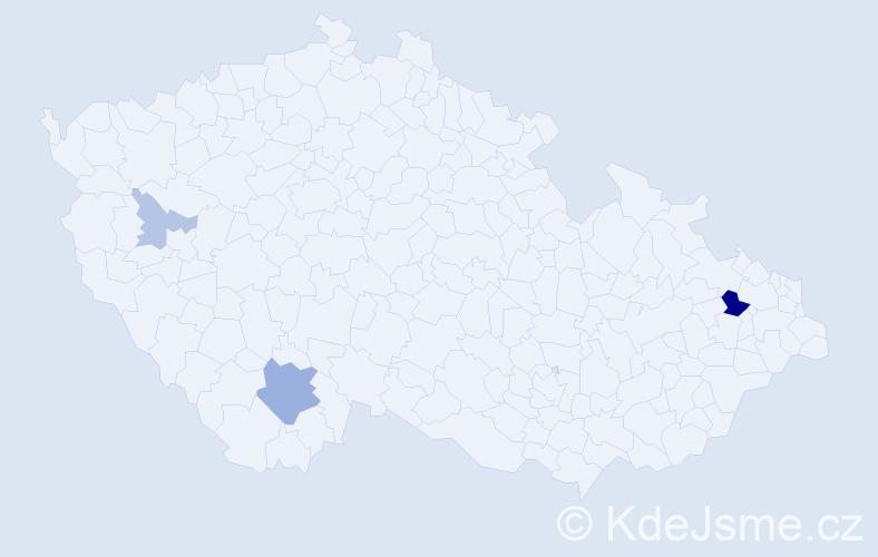Příjmení: 'Lövy', počet výskytů 8 v celé ČR