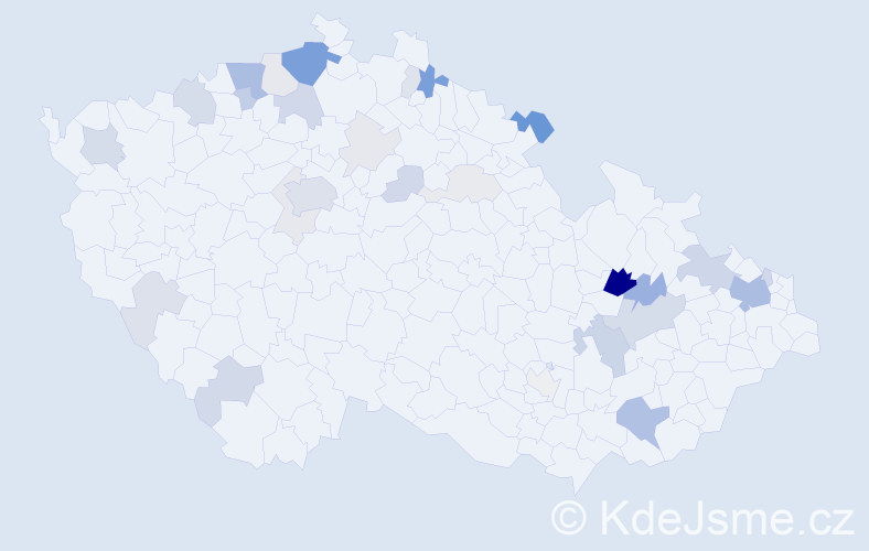 Příjmení: 'Bräuerová', počet výskytů 93 v celé ČR