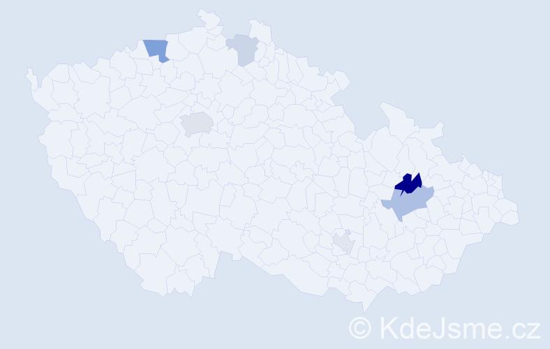 Příjmení: 'Lichtenstein', počet výskytů 13 v celé ČR