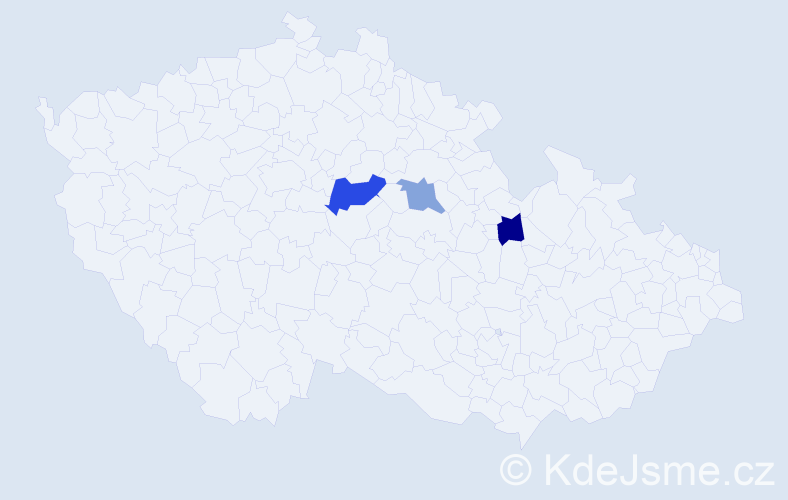 Příjmení: 'Benjačová', počet výskytů 4 v celé ČR