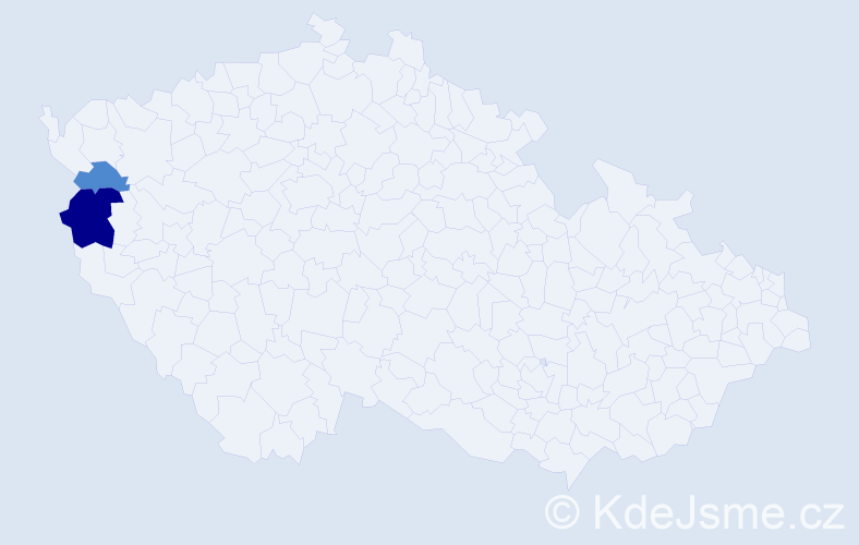 Příjmení: 'Iccac', počet výskytů 4 v celé ČR