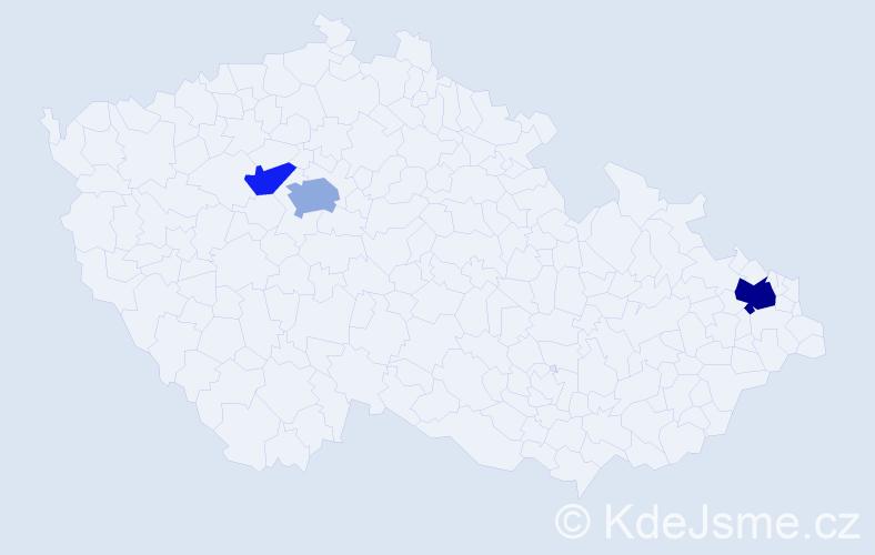 Příjmení: 'Antene', počet výskytů 6 v celé ČR