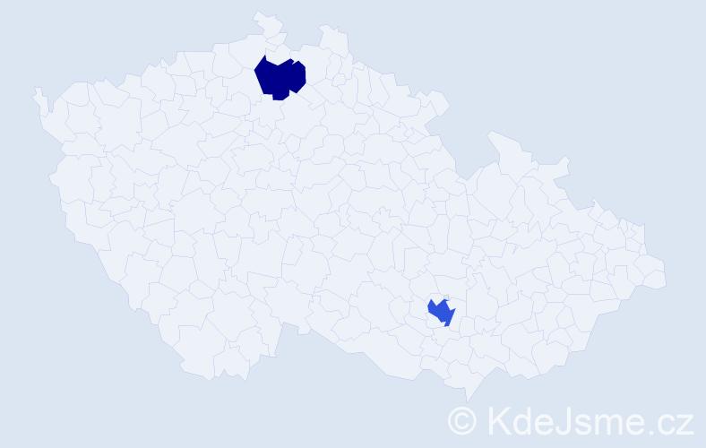 Příjmení: 'Bandermann', počet výskytů 3 v celé ČR