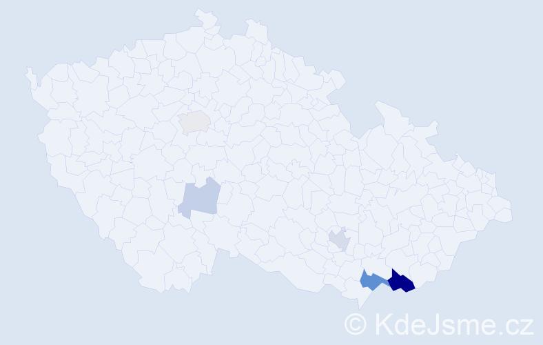 Příjmení: 'Furyová', počet výskytů 15 v celé ČR