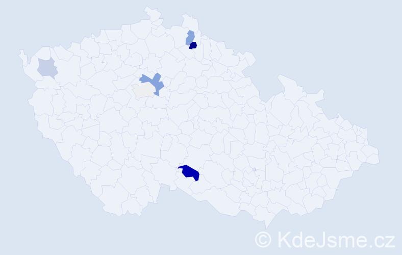 Příjmení: 'Balásek', počet výskytů 11 v celé ČR