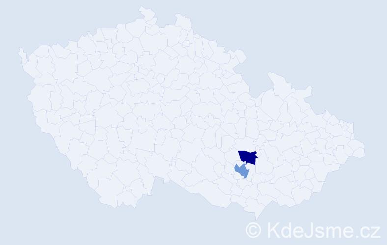Příjmení: 'Babášová', počet výskytů 5 v celé ČR