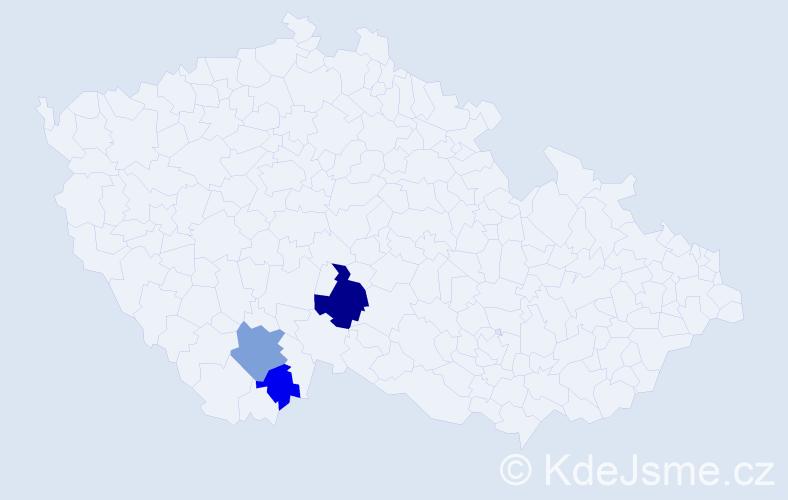 Příjmení: 'Chmeňa', počet výskytů 6 v celé ČR