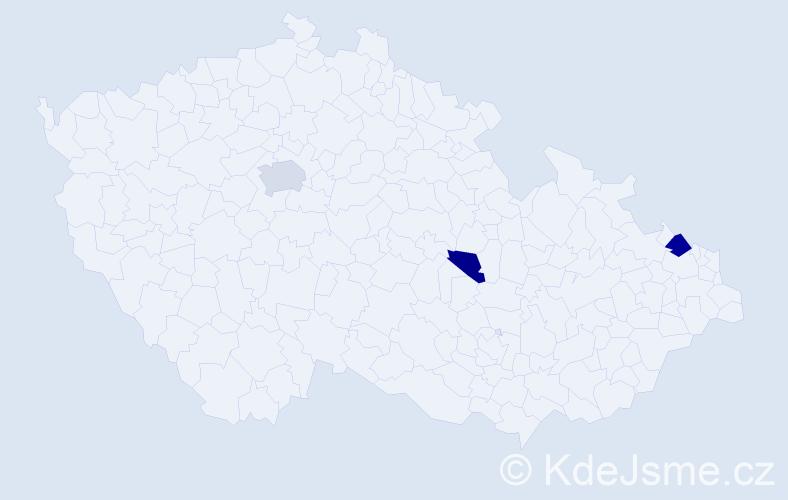 Příjmení: 'Dimovská', počet výskytů 5 v celé ČR