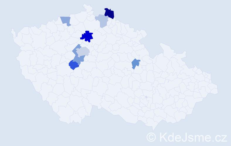 Příjmení: 'Guttenbergová', počet výskytů 32 v celé ČR