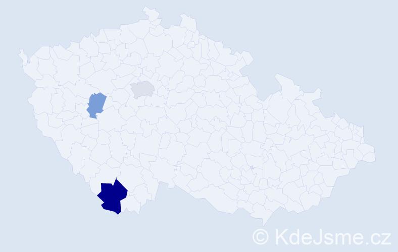 Příjmení: 'Contrerasová', počet výskytů 6 v celé ČR