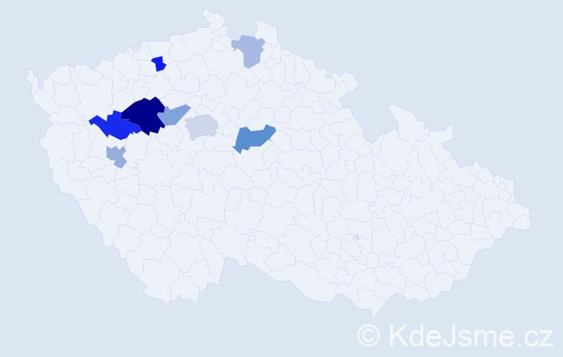 Příjmení: 'Axamit', počet výskytů 29 v celé ČR