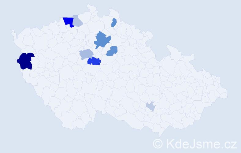 Příjmení: 'Cholenský', počet výskytů 29 v celé ČR
