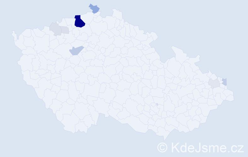 Příjmení: 'Joniová', počet výskytů 39 v celé ČR