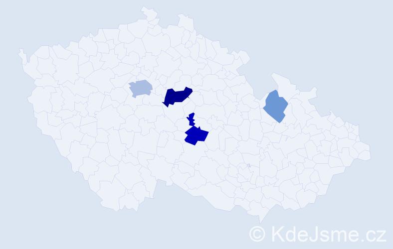 Příjmení: 'Illmannová', počet výskytů 10 v celé ČR