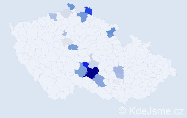 Příjmení: 'Eiglová', počet výskytů 73 v celé ČR